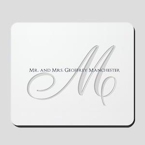 Elegant Name and Monogram Mousepad