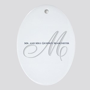 Elegant Name and Monogram Oval Ornament