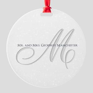 Elegant Name and Monogram Ornament