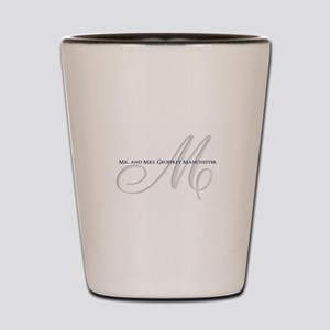 Elegant Name and Monogram Shot Glass