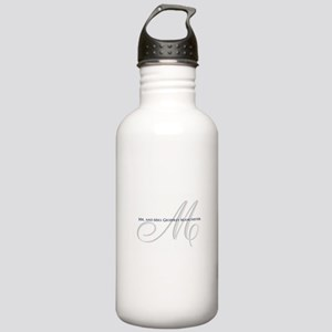 Elegant Name and Monogram Water Bottle