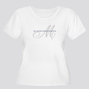 Elegant Name and Monogram Plus Size T-Shirt