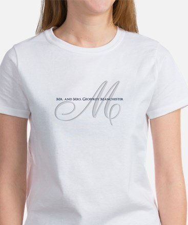 Elegant Name and Monogram T-Shirt