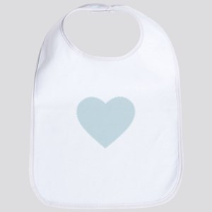Delicate Baby Blue Heart by LH Bib