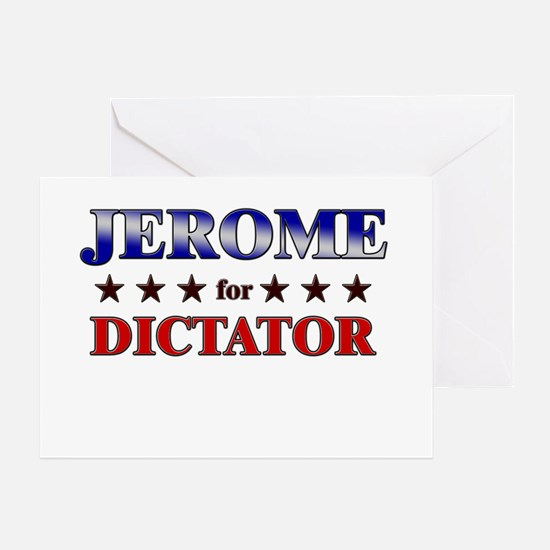 JEROME for dictator Greeting Card
