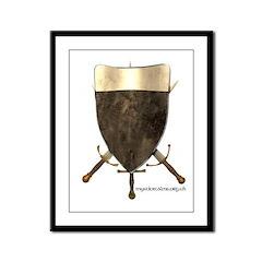 Templar Shield Framed Panel Print