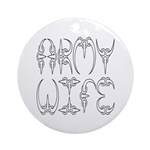 Army Wife Ornament (Round)