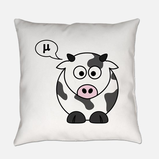 cow says mu Everyday Pillow