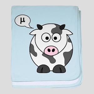 cow says mu baby blanket
