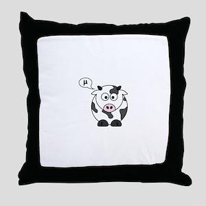 cow says mu Throw Pillow