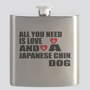 All You Need Is Love Japanese Chin Dog Flask