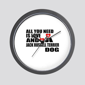 All You Need Is Love Jack Russell Terri Wall Clock