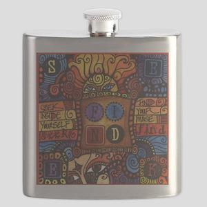 Seek & Find Sun Inspirational Art Flask