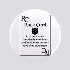 """Race Card"" 3.5"" Button"