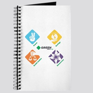 Green Party US 4 Pillars White Fade Journal