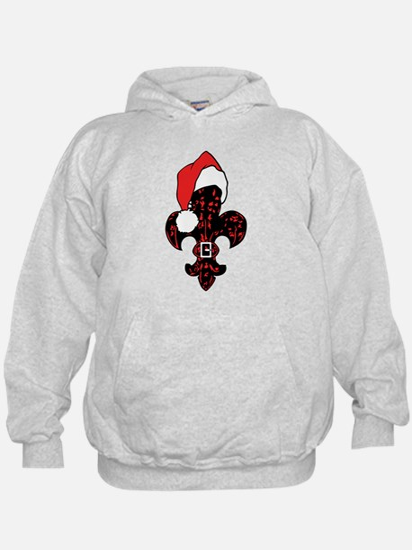 Santa Fleur de lis (red) Hoodie