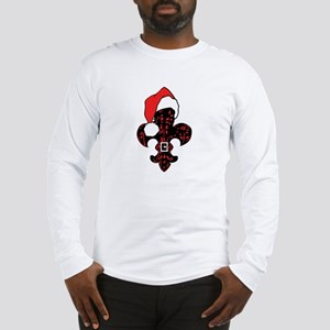 Santa Fleur de lis (red) Long Sleeve T-Shirt
