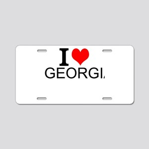 I Love Georgia Aluminum License Plate