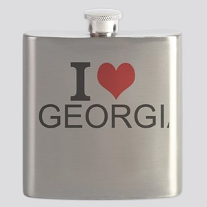 I Love Georgia Flask
