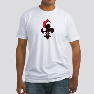 Santa Fleur de lis (red) Fitted T-Shirt