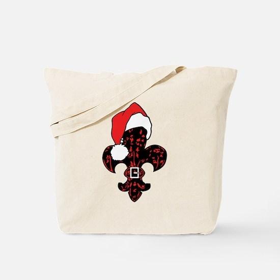 Santa Fleur de lis (red) Tote Bag