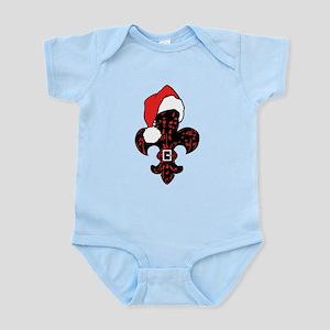 Santa Fleur de lis (red) Infant Bodysuit