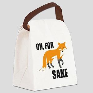 Oh For Fox Sake Mug Canvas Lunch Bag