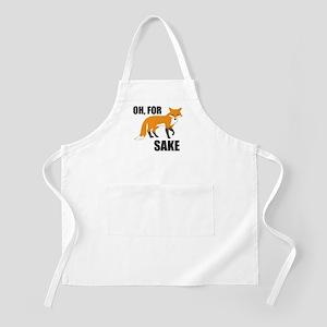 Oh For Fox Sake Mug Apron