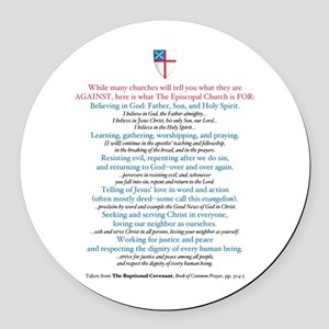 What Tec Is For! Round Car Magnet