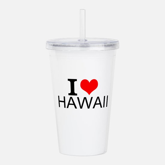 I Love Hawaii Acrylic Double-wall Tumbler