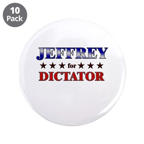 """JEFFREY for dictator 3.5"""" Button (10 pack)"""