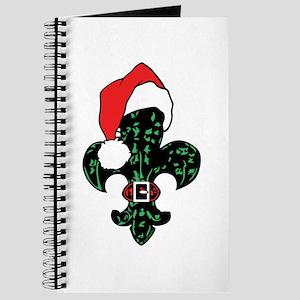 Santa Fleur de lis (green) Journal