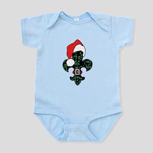 Santa Fleur de lis (green) Infant Bodysuit