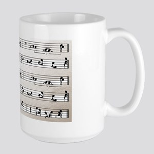 Kama Sutra Music Notes Large Mug