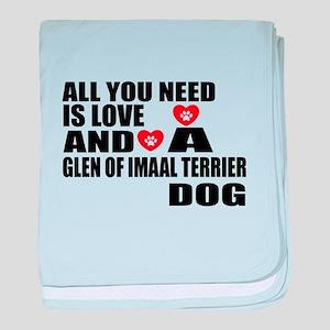 All You Need Is Love Glen of Imaal Te baby blanket