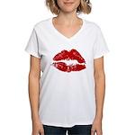 Lipstick Kiss Women's V-Neck T-Shirt