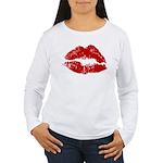 Lipstick Kiss Women's Long Sleeve T-Shirt