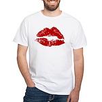 Lipstick Kiss White T-Shirt