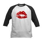 Lipstick Kiss Kids Baseball Jersey