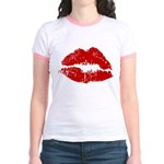 Lipstick Kiss Jr. Ringer T-Shirt
