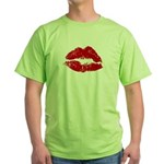 Lipstick Kiss Green T-Shirt