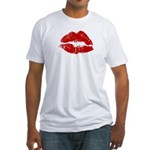 Lipstick Kiss Fitted T-Shirt