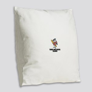 Turks And Caicos Islands Burlap Throw Pillow