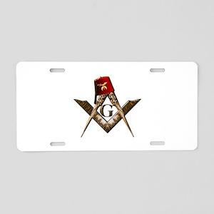 Shrine Mason Aluminum License Plate