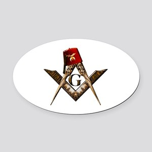 Shrine Mason Oval Car Magnet
