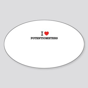 I Love POTENTIOMETERS Sticker