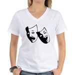 Drama Masks Women's V-Neck T-Shirt