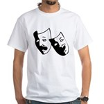 Drama Masks White T-Shirt