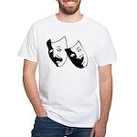 Drama Masks White T-Shirt