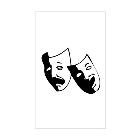 Drama Masks Rectangle Sticker